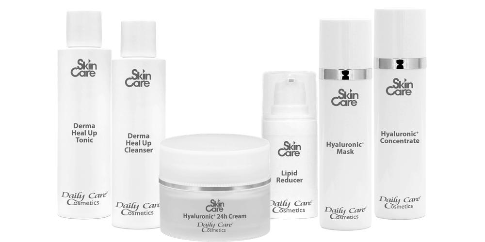 Daily Care Cosmetics Skin Care Gruppenbild
